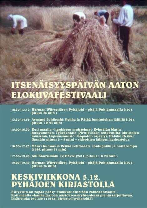 Pyhäjoen kirjaston itsenäisyyspäivän elokuvafestivaalit